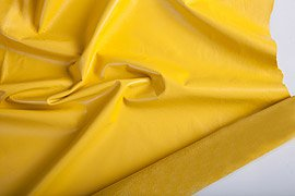 кожа для одежды желтого цвета